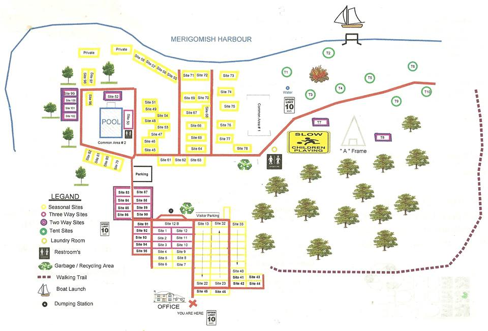 Cranberry Campground Map Of Campground
