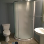 modern bathrooms, showers only in cottage #1 and #2